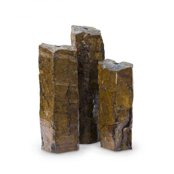Natural Mongolian Basalt Columns Set of 3