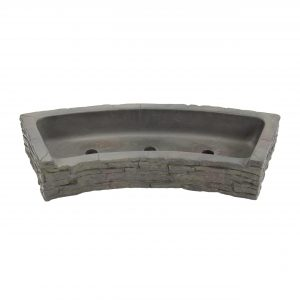 Front-Spill Curved Stacked Slate Topper