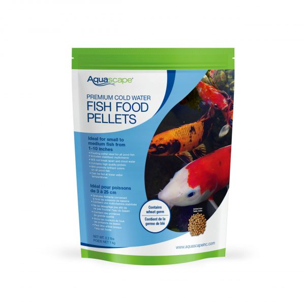 Premium Cold Water Fish Food Small Pellets - 2.2 lbs