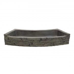 Rear-Spill Curved Stacked Slate Topper