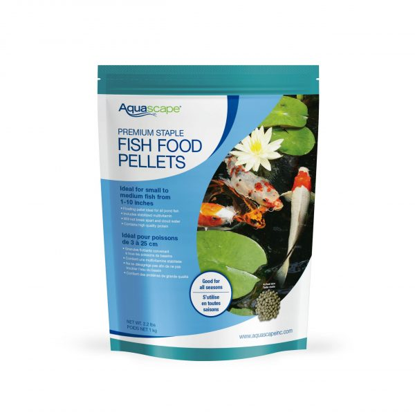 Premium Staple Fish Food Small Pellets - 2.2 lbs