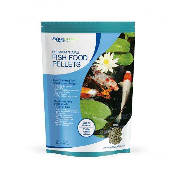 Premium Staple Fish Food Large Pellets - 4.4 lbs