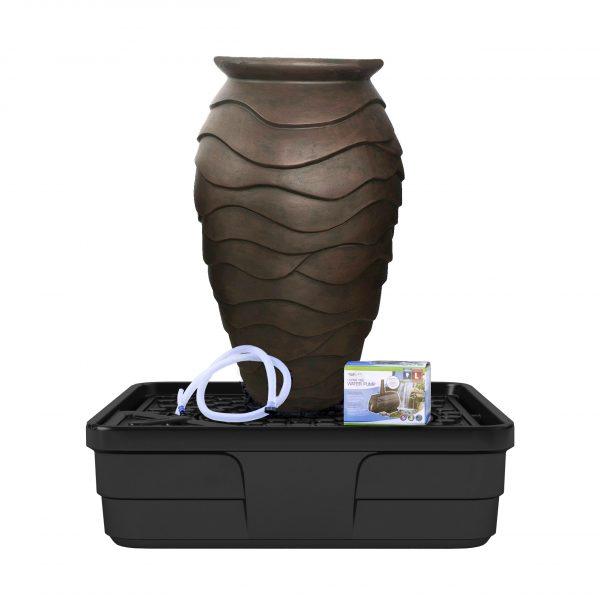 Medium Scalloped Urn Landscape Fountain Kit
