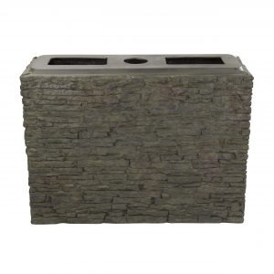 Large Straight Stacked Slate Wall Base