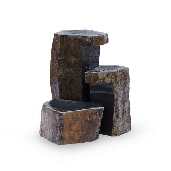 Keyed Basalt Columns Set of 3
