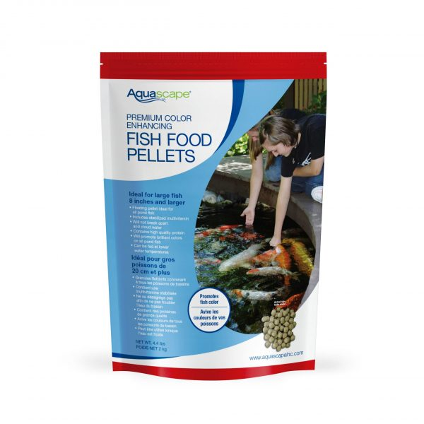 Premium Color Enhancing Fish Food Large Pellets - 4.4 lbs