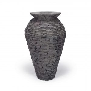 Medium Stacked Slate Urn