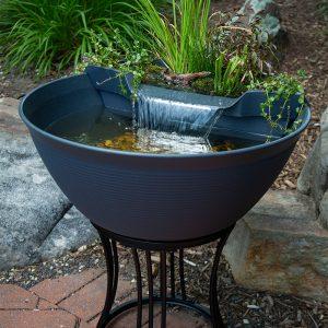 AquaGarden Mini Pond Kit - Steel Gray