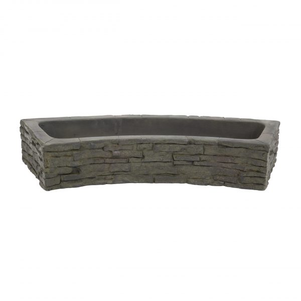 Quad-Spill Curved Stacked Slate Topper