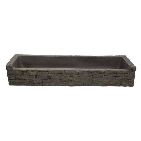 Front-Spill Straight Stacked Slate Topper