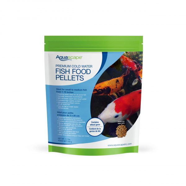 Premium Cold Water Fish Food Small Pellets - 1.1 lbs