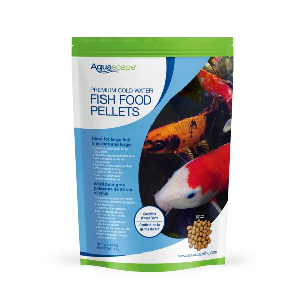 Premium Cold Water Fish Food Large Pellets - 4.4 lbs
