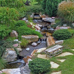 Large Pondless® Waterfall Kit 26' Stream with 5-PL 5000 Pond Pump