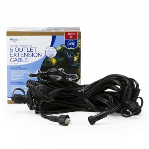 Garden and Pond 25' 5-OutletQuick-Connect Lighting Extension Cable