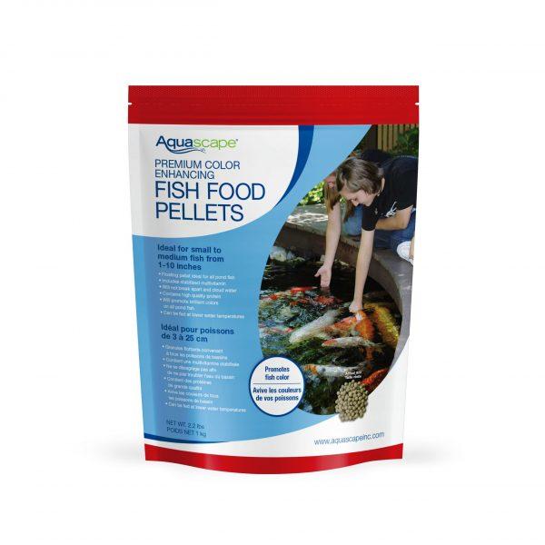 Premium Color Enhancing Fish Food Small Pellets - 2.2 lbs