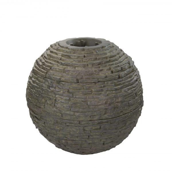 Medium Stacked Slate Sphere