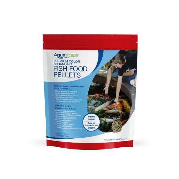 Premium Color Enhancing Fish Food Small Pellets - 1.1 lbs