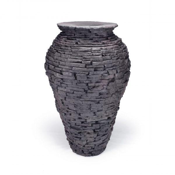 Large Stacked Slate Urn