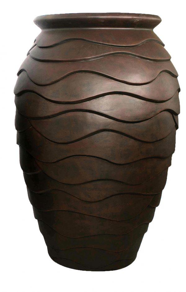 Large Scalloped Urn